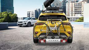 велосипед на крышу или к задней части машины