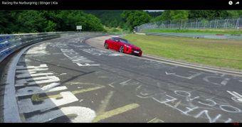 """""""Kia Stinger"""" išbandytas Niurburgringo lenktynių trasoje"""