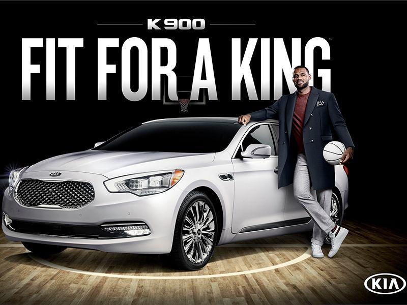LeBron James toob tähelepanu keskpunkti Kia lipulaevast sedaani K900