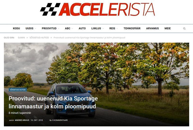 Accelerista: uuenenud Kia Sportage linnamaastur ja kolm ploomipuud