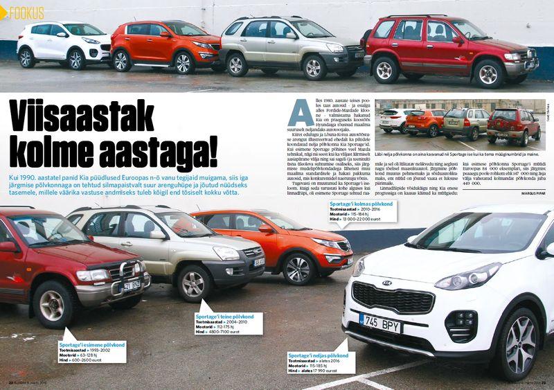 Autoleht: Neli põlvkonda Sportaget